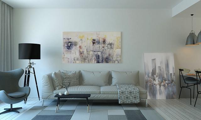 obraz vedle gauče