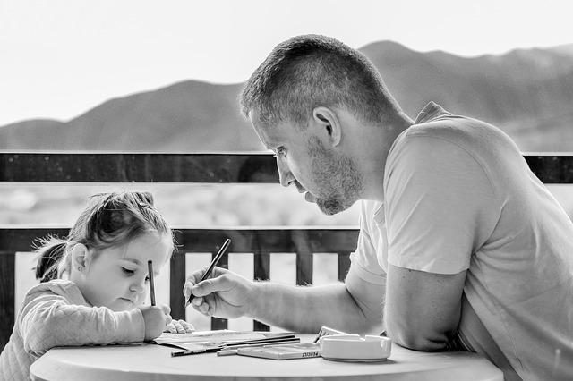 malování s tátou